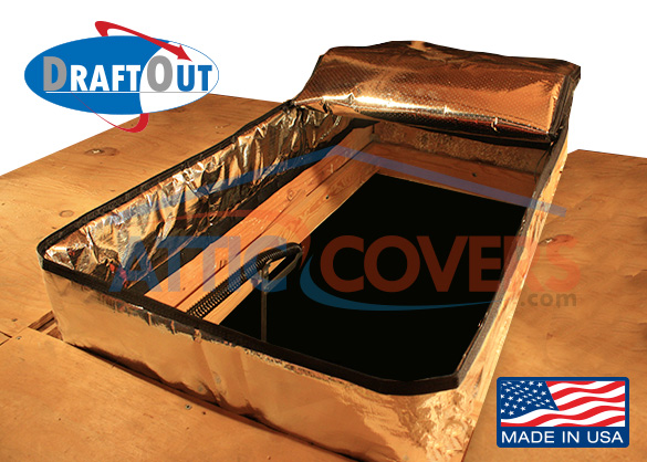 Draft Out Attic Door Cover